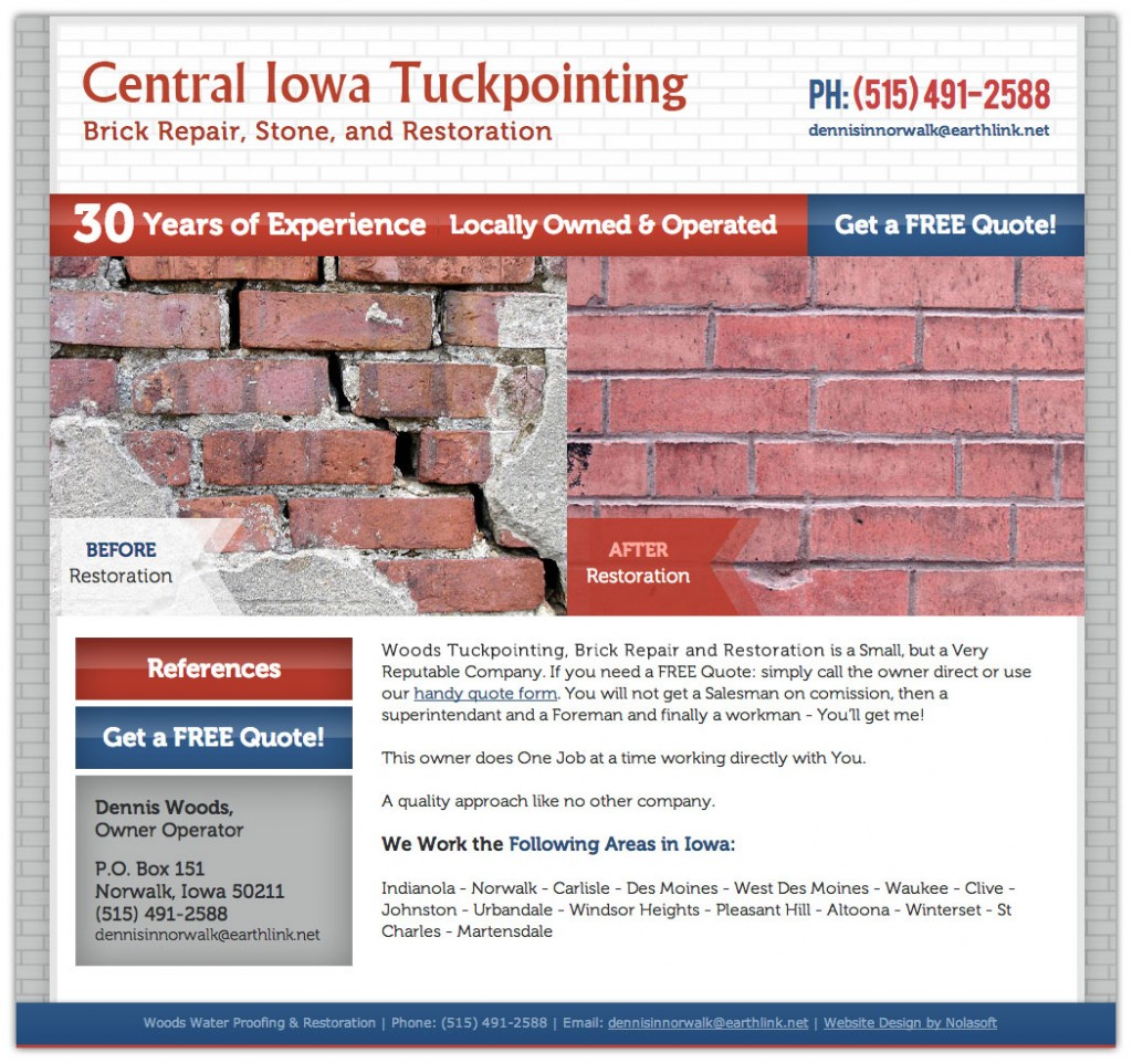 Central Iowa Tuckpoint - Brick Repair, Stone and Restoration