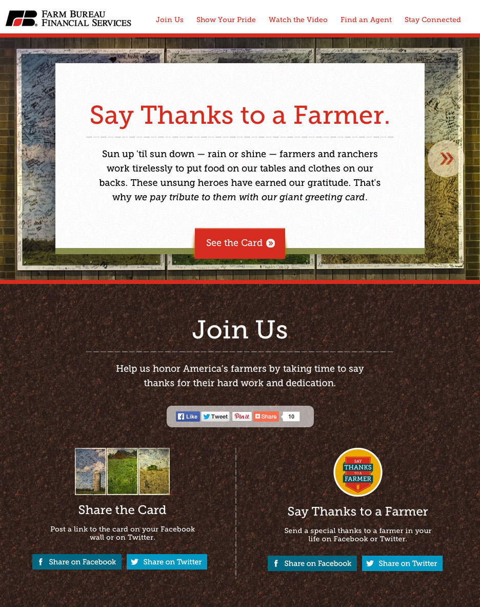 Say Thanks to a Farmer